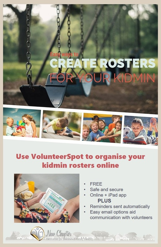 Use VolunteerSpot to easily organise your kidmin rosters.