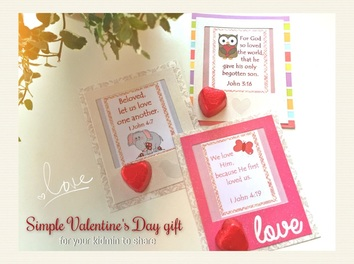 Simple Valentine's Day for your kidmin: print, trim, frame and add a backing and a heart chocolate.