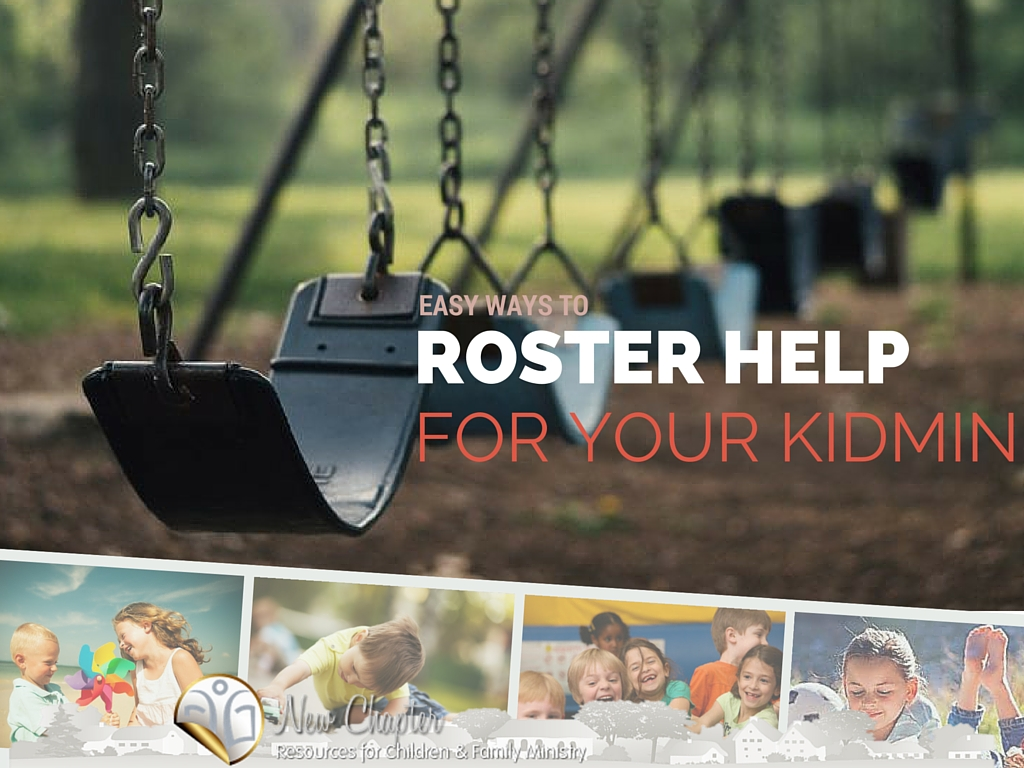 A simple way to prepare your kidmin rosters without the frustration.